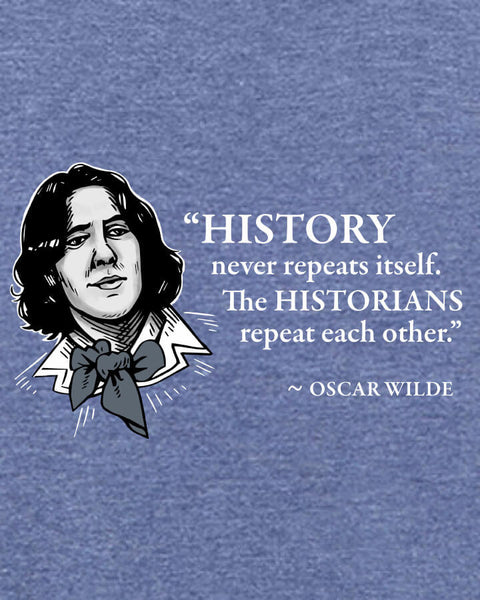 Oscar Wilde on Historians - Men's Edition - Navy Blue Heathered - Both