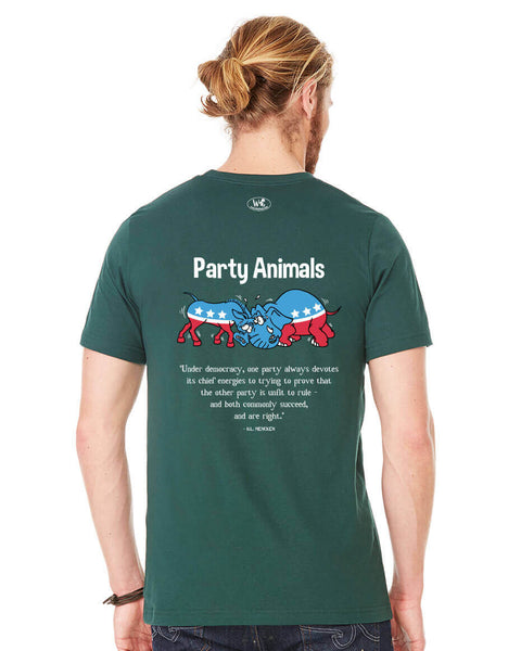 Party Animals - Men's Edition - Forest Green Heathered - Back