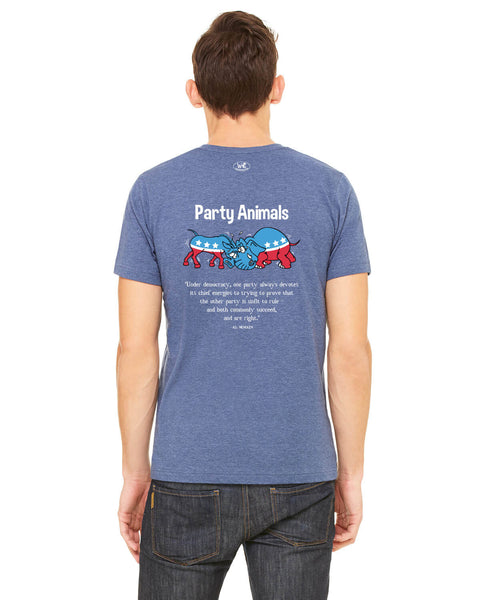Party Animals - Men's Edition - Navy Blue Heathered - Back
