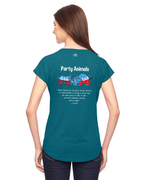 Party Animals - Women's Edition - Galapagos Blue Heathered