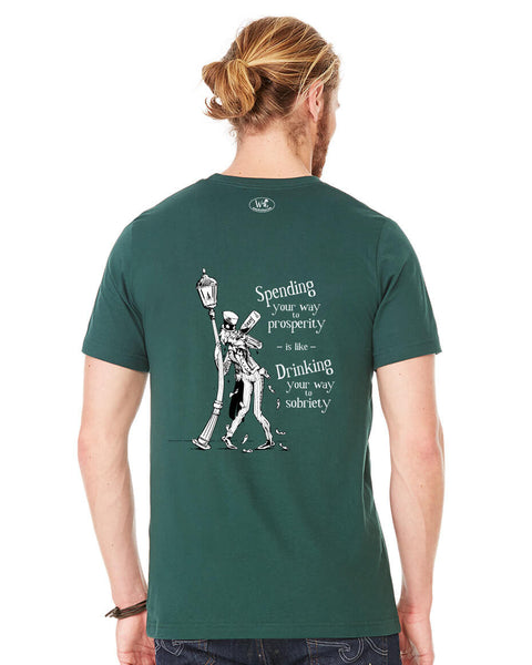 Poor Uncle Sam - Men's Edition - Forest Green Heathered - Back