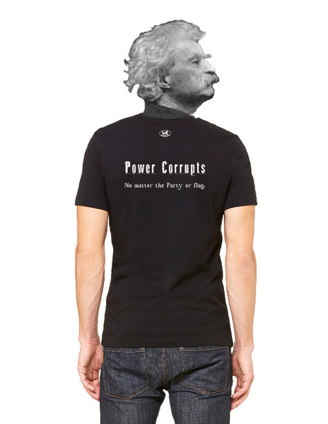 Power Corrupts - Men's Edition - Black - Back