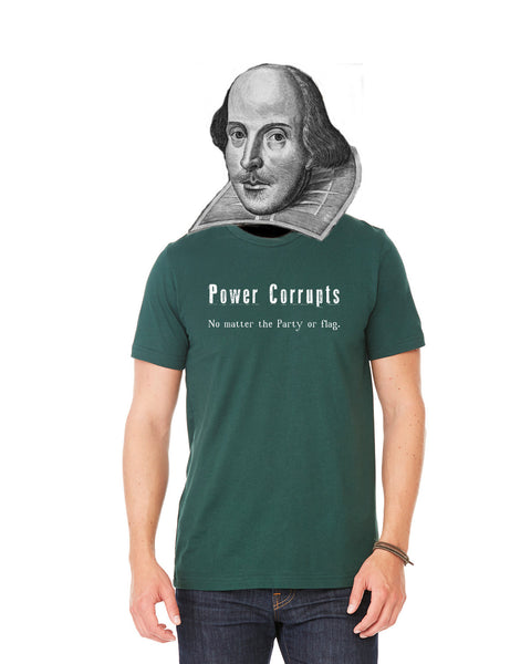 Power Corrupts - Men's Edition - Forest Green Heathered - Front