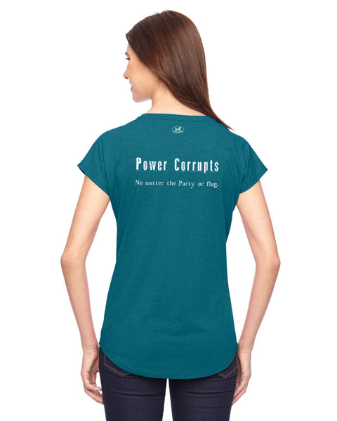 Power Corrupts - Women's Edition - Galapagos Blue Heathered
