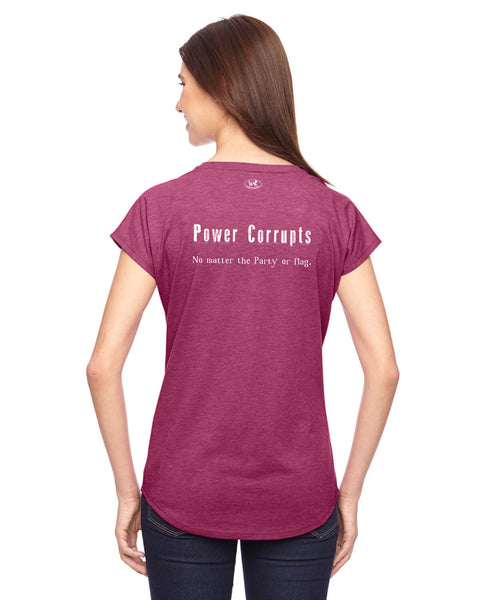 Power Corrupts - Women's Edition - Raspberry Heathered