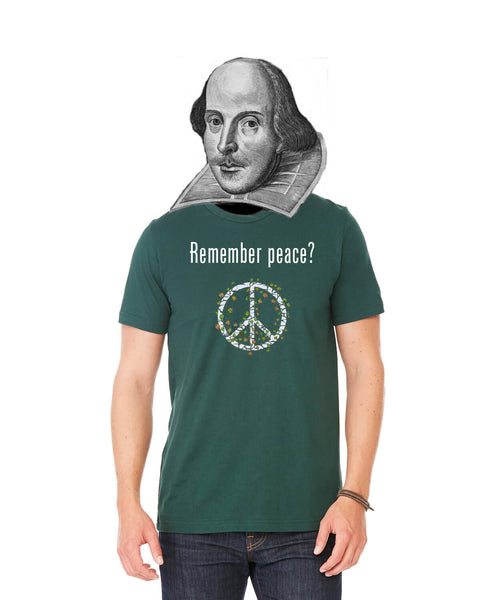 'Remember peace?' v.2 - Men's Edition - Forest Green Heathered - Front