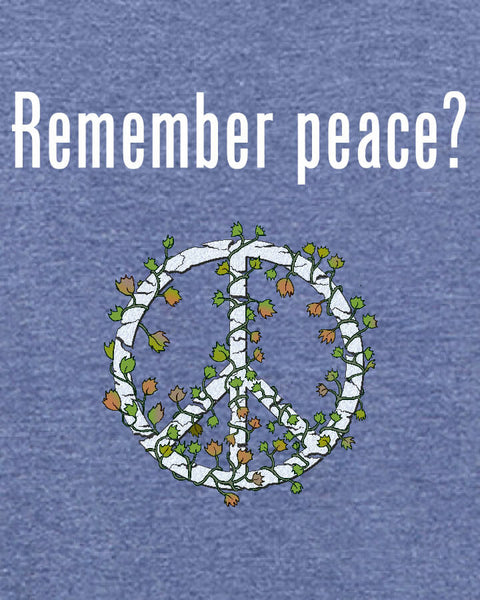 'Remember peace?' v.2 - Men's Edition - Navy Blue Heathered - Both