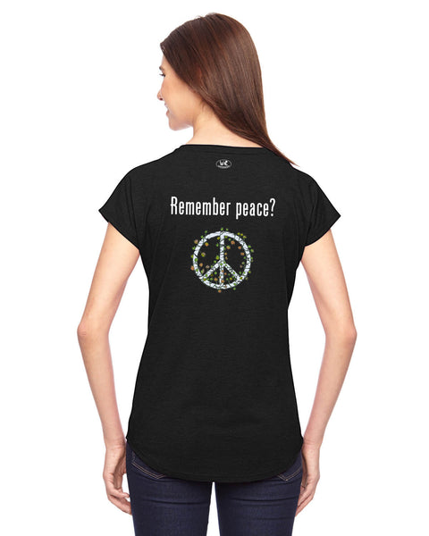 'Remember peace?' v.2 - Women's Edition - Black
