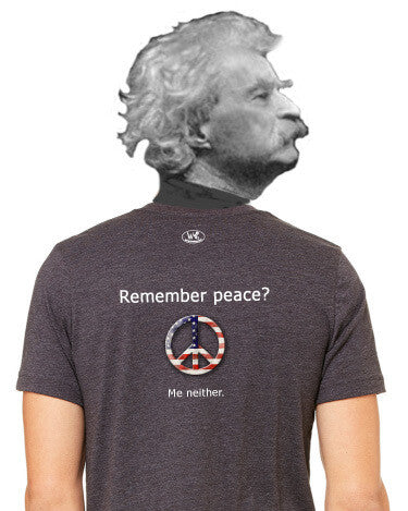 'Remember peace?' v.1 - Men's Edition - Dark Grey Heathered - Back