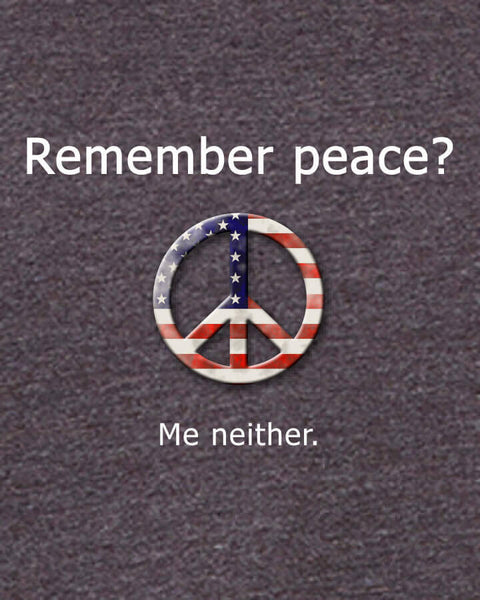 'Remember peace?' v.1 - Men's Edition - Dark Grey Heathered - Both