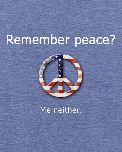 'Remember peace?' v.1 - Men's Edition - Navy Blue Heathered - Both