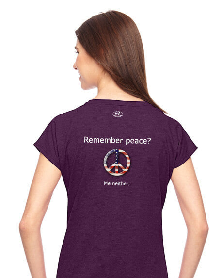 'Remember peace?' v.1 - Women's Edition - Aubergine Heathered