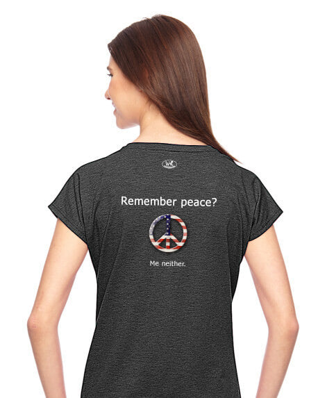 'Remember peace?' v.1 - Women's Edition - Dark Grey Heathered