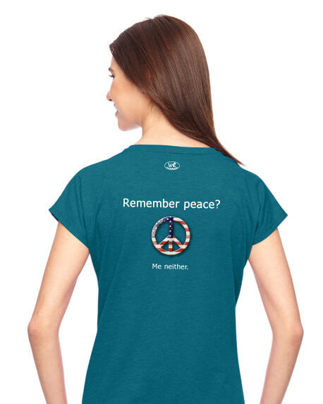 'Remember peace?' v.1 - Women's Edition - Galapagos Blue Heathered