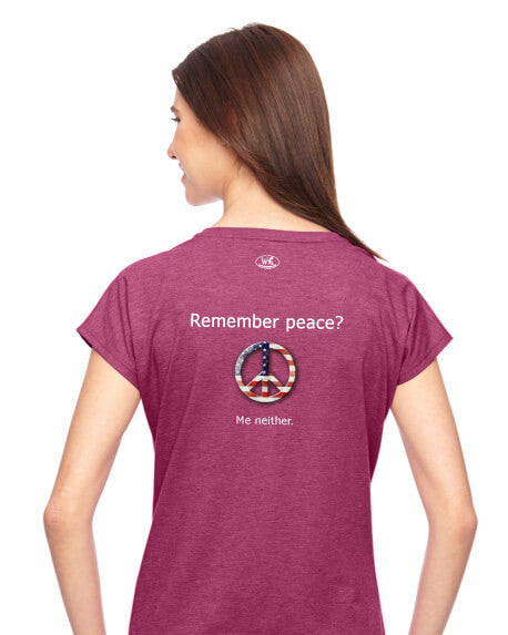 'Remember peace?' v.1 - Women's Edition - Raspberry Heathered