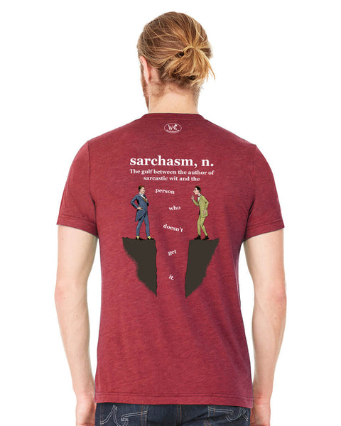 Sarchasm - Men's Edition - Cardinal Red Heathered - Back