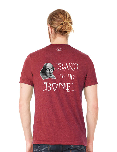 Bard to the Bone - Men's Edition - Cardinal Red Heathered - Back