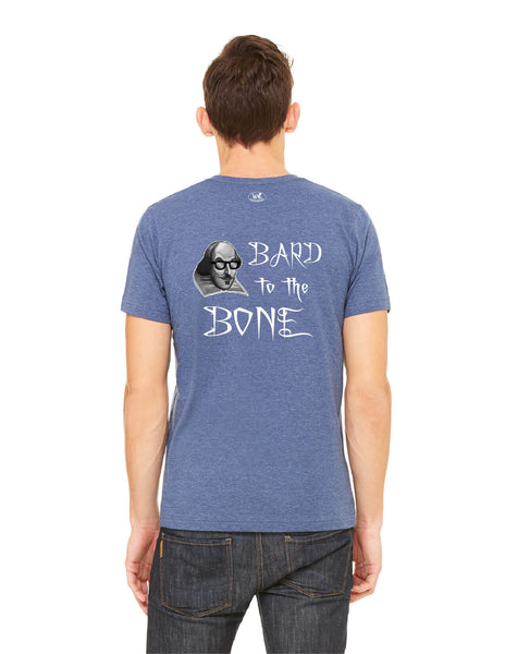 Bard to the Bone - Men's Edition - Navy Blue Heathered - Back