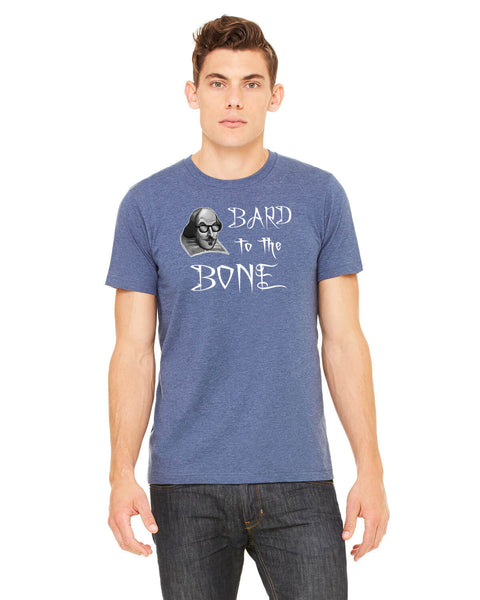 Bard to the Bone - Men's Edition - Navy Blue Heathered - Front