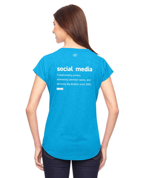 Social Media - Women's Edition - Caribbean Blue Heathered