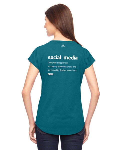 Social Media - Women's Edition - Galapagos Blue Heathered