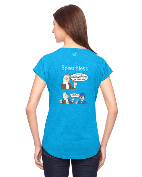 Speechless - Women's Edition - Caribbean Blue Heathered