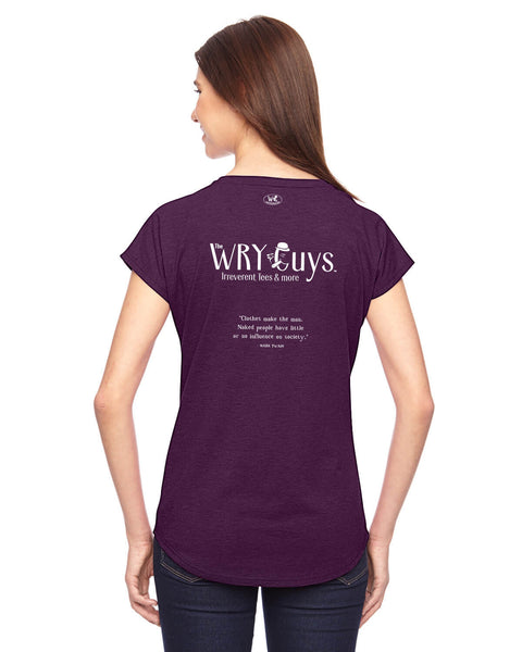 The Wry Guys - Women's Edition - Aubergine Heathered