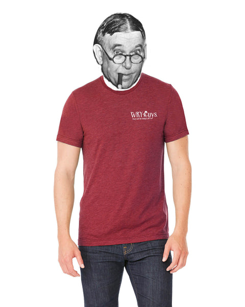 H.L. Mencken on Age & Wisdom - Men's Edition - Cardinal Red Heathered - Back