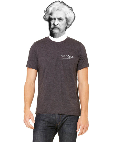 Mark Twain on Dogs - Men's Edition - Dark Grey Heathered - Back