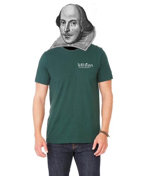 Oscar Wilde on Simple Tastes - Men's Edition - Forest Green Heathered - Back