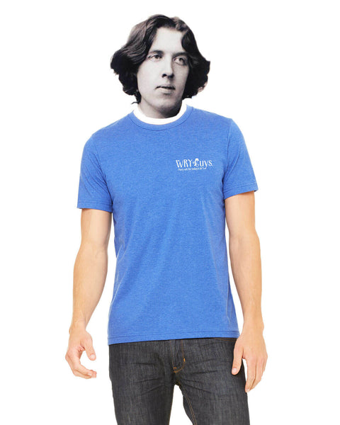 Ben Franklin on Democracy - Men's Edition - Royal Blue Heathered - Back
