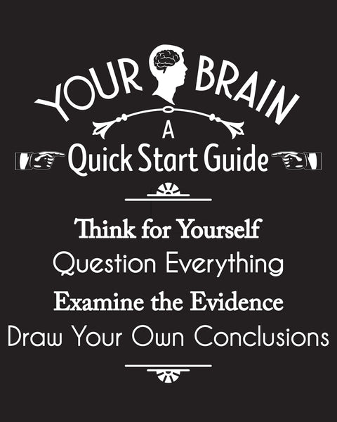 Your Brain: A Quick Start Guide - Men's Edition - Black - Both