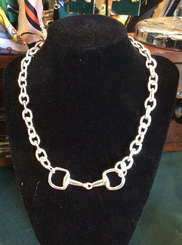 Necklace in Silver with a Snaffle Bit