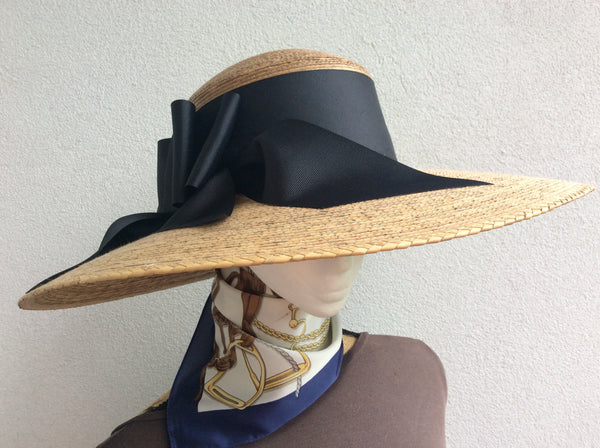 Palm Straw in a Large Brim
