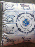 Equestrian Print Pillow