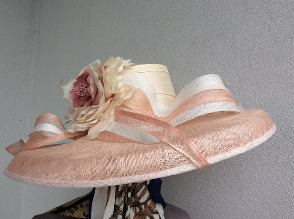 Light Dusty Rose Sinamay Straw