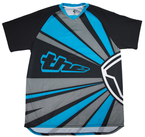 BLUE SHORT SLEEVE RAYS BMX | MOUNTAIN BIKE JERSEY