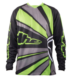 GREEN LONG SLEEVE RAYS BMX | MOUNTAIN BIKE JERSEY