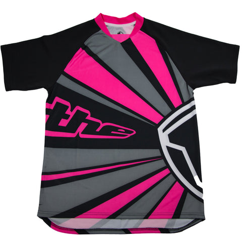 PINK SHORT SLEEVE RAYS BMX | MOUNTAIN BIKE JERSEY