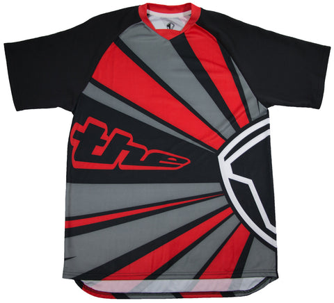 RED SHORT SLEEVE RAYS BMX | MOUNTAIN BIKE JERSEY