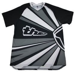 BLACK SHORT SLEEVE RAYS BMX | MOUNTAIN BIKE JERSEY