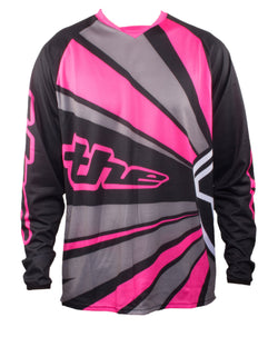 PINK LONG SLEEVE  RAYS BMX | MOUNTAIN BIKE JERSEY