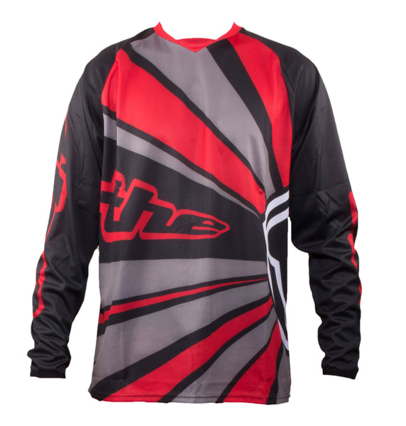 RED LONG SLEEVE RAYS BMX | MOUNTAIN BIKE JERSEY