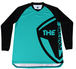 TEAL LONG SLEEVE HALFTONE BMX | MOUNTAIN BIKE JERSEY