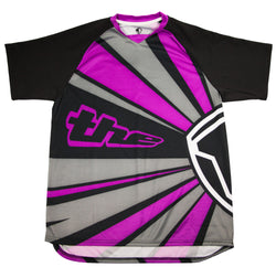 PURPLE SHORT SLEEVE RAYS BMX | MOUNTAIN BIKE JERSEY