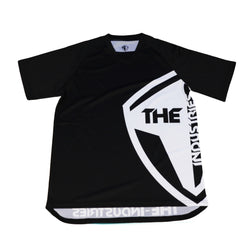 BLACK SHORT SLEEVE  HALFTONE BMX | MOUNTAIN BIKE JERSEY