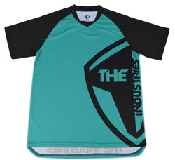 TEAL SHORT SLEEVE HALFTONE BMX | MOUNTAIN BIKE JERSEY