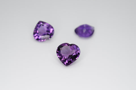 10mm Heart Cut Amethyst Calibrated A++