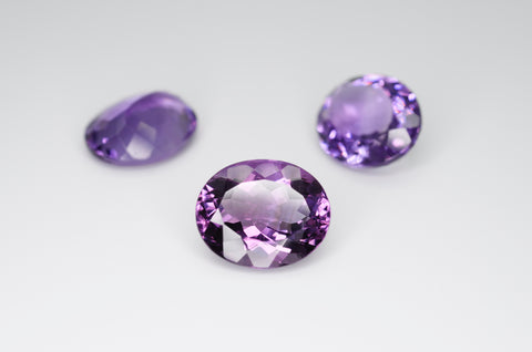 12 x 10mm Oval Cut Natural Amethyst Calibrated A++