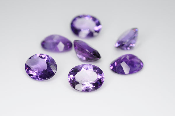 10 x 8mm Oval Cut Natural Amethyst Calibrated A++